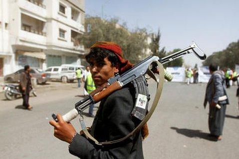 Ein Unterstützer der Huuthi-Rebellen in der Hauptstadt Sanaa.