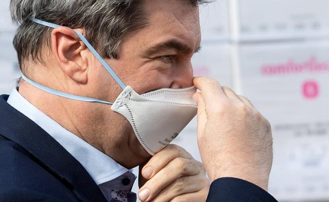 In der Krise mit guten Werten. Bayerns Ministerpräsident Markus Söder.