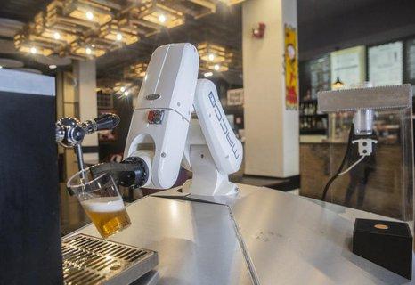 Der Roboter bei der Arbeit.