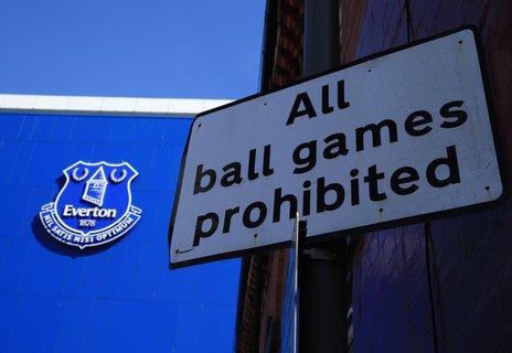 Ballspielen verboten: Das könnte sich auch beim FC Everton bald wieder ändern. Zumindest im Stadion.