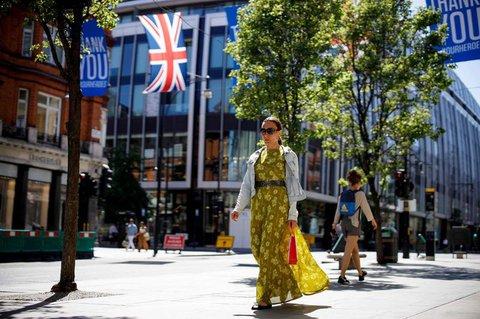 Noch sind die Shops an der Oxford Street in London dicht.