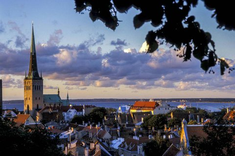 Blick auf Estlands Hauptstadt Tallinn.