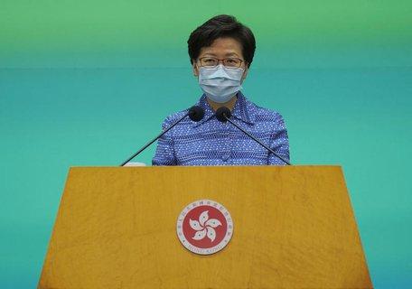 Hongkongs pekingtreue Regierungschefin Carrie Lam.