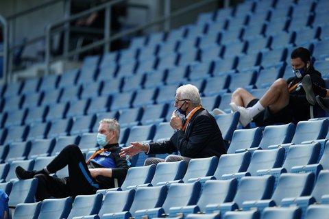 Maskenträger bei Hertha