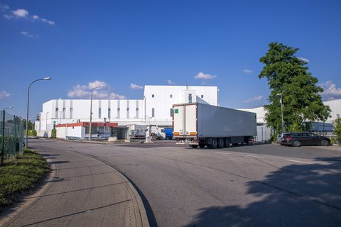 Schlachthof der Tönnies Lebensmittelholding in Weißenfels