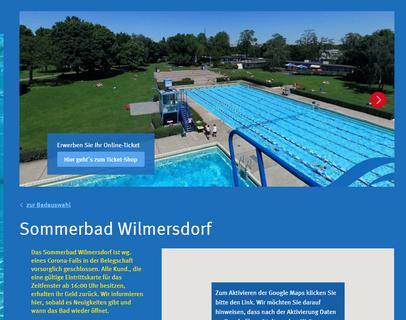 Wegen eines Corona-Falls geschlossen: Das Sommerbad Wilmersdorf.