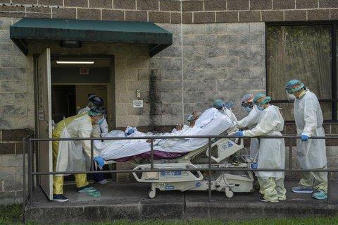 Ein Covid-19-Patient in einer Klinik in Texas