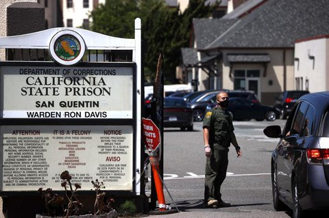 Im Gefängnis San Quentin gibt es viele Neuinfektionen.