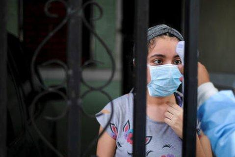 Gesundheits-Checks in El Salvador während der Coronavirus-Pandemie