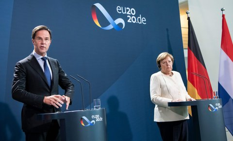 Mark Rutte und Angela Merkel