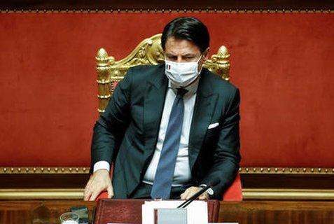 Ministerpräsident Guiseppe Conte im italienischen Parlament.