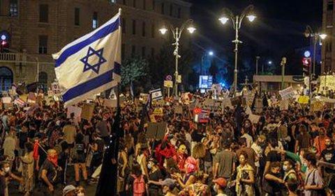 Proteste gegen die Corona-Politik der israelischen Regierung in Jerusalem