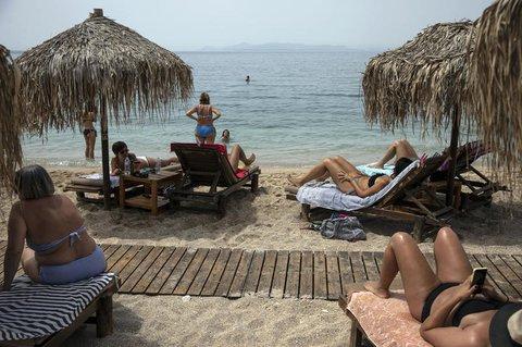 Am Strand von Griechenland.