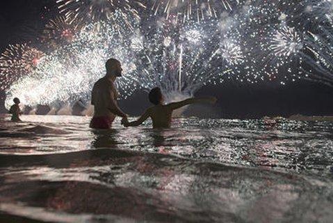 Silvester in Rio zum Jahreswechsel 2018.