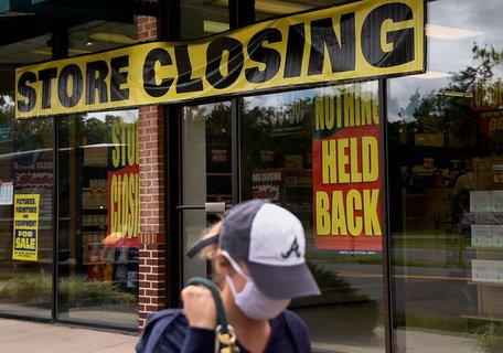 Viele Läden sind pleite, die Mitarbeiter ohne Job.