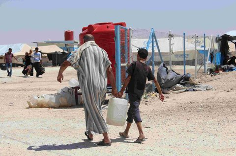 Archivaufnahme von Flüchtlingen im Lager Al Hol.