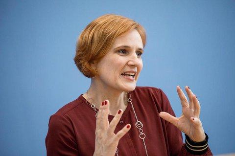 Die Vorsitzende der Linkspartei: Katja Kipping.