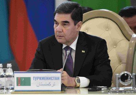 Turkmenistans Pr?sident Gurbanguli Berdimuchamedow.