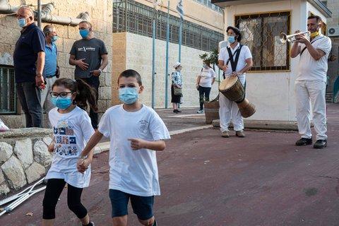 Kinder in Jerusalem.