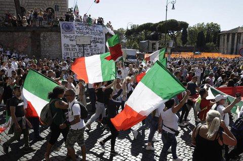 Teilnehmer der Demonstration