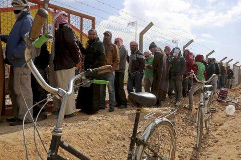 Syrische Flüchtlinge in einem Camp in Jordanien