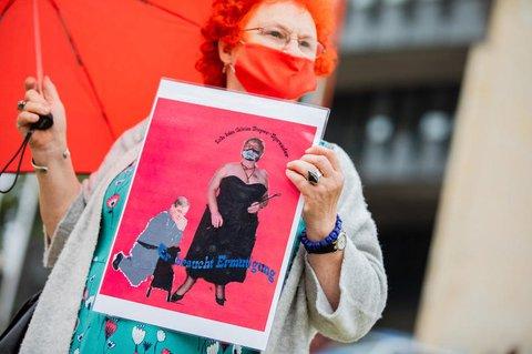 Demonstration für Öffnung der Bordelle in NRW