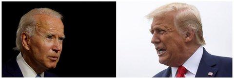 Joe Biden (l.) fordert Amtsinhaber Donald Trump bei der US-Präsidentschaftswahl im November heraus.