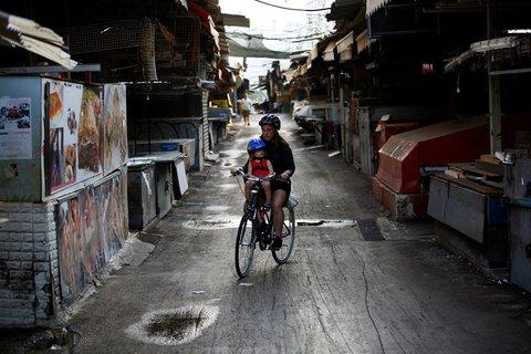 Fast leergefegt: die Straßen Israels.