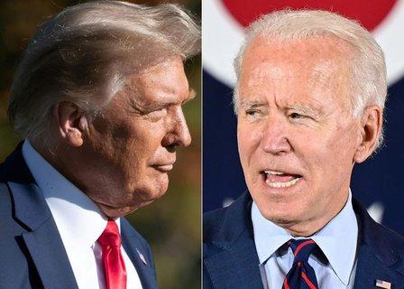 Kein direktes Duell: Trump und Biden