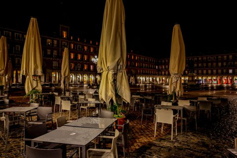 Die Plaza Mayor in Madrid.