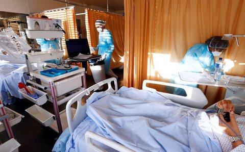 Pflegepersonal in einem Krankenhaus in Genf.