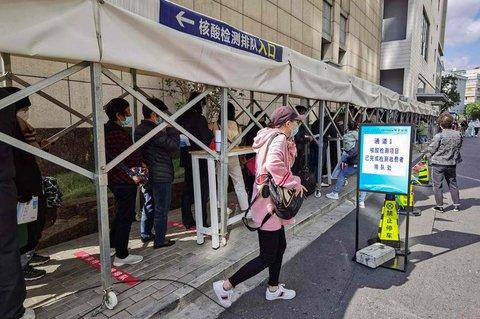 Ein Testcenter in Shanghai: Auch hier gab es einen neuen Fall.