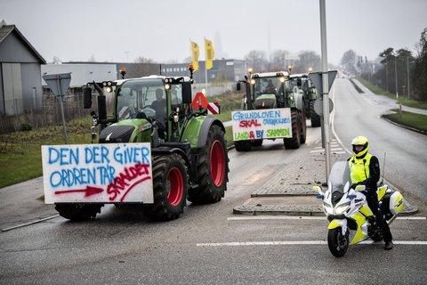 Nerzfarm-Betreiber protestieren in Kopenhagen.