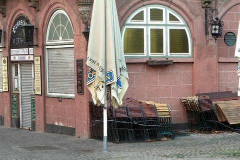 Geschlossenes Restaurant.
