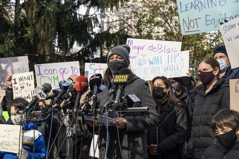 Proteste gegen Schulschließungen in New York.