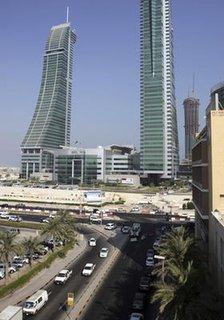 Ein Blick auf die Straßen in Manama, der Hauptstadt Bahrains.