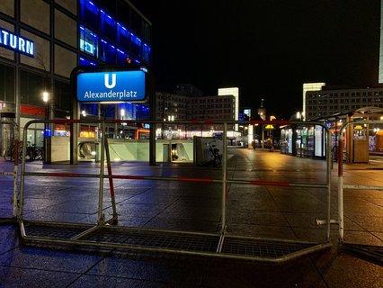 Gesperrter Alexanderplatz