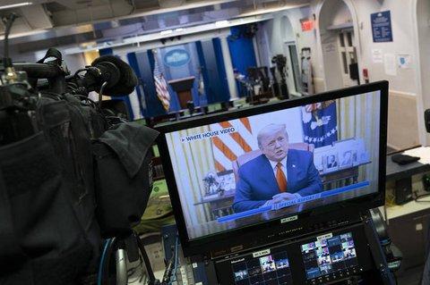 Übertragung der Videobotschaft von Donald Trump