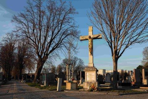 Ein Friedhof in Österreichs Hauptstadt Wien.