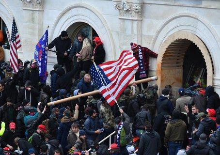 Mehr als 10.000 Menschen waren auf dem Gelände als das Kapitol im Januar gestürmt wurde.