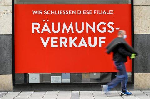 Ein geschlossenes Geschäft in München.