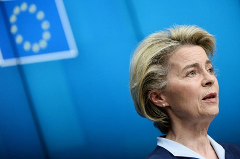 Pro Monat erwarte sie im zweiten Quartal die Lieferung von rund 100 Millionen Impfstoff-Dosen, sagte EU-Kommissionschefin Ursula von der Leyen.