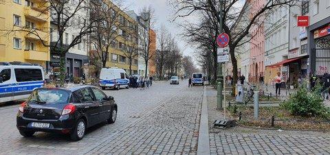 Reichenberger Straße auf Höhe der Meuterei