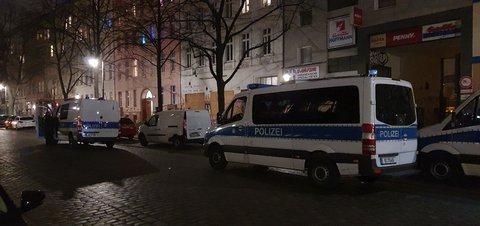 Die Reichenberger Straße am Donnerstagabend.