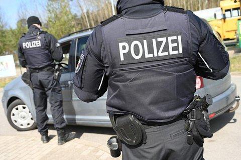 Polizeikontrolle in Ahlbeck auf Usedom