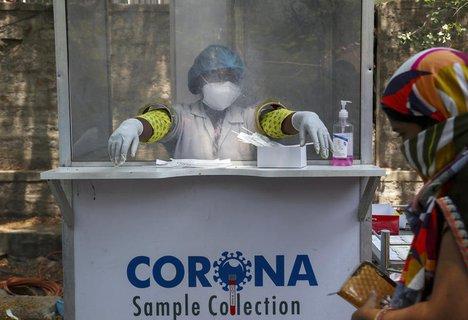 Corona-Teststation in Hyderabad