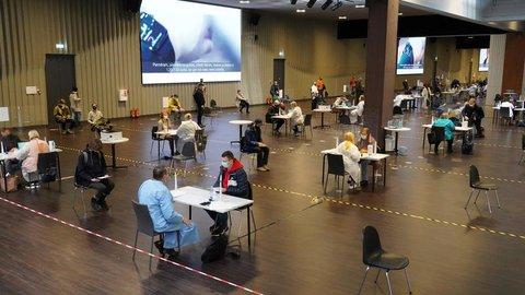 Ein Impfzentrum in Riga