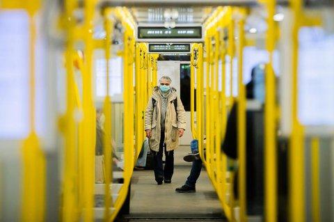 Berliner U-Bahn in der Corona-Zeit (Archivbild vom Januar 2021)