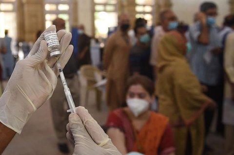 Impfzentrum in Karachi