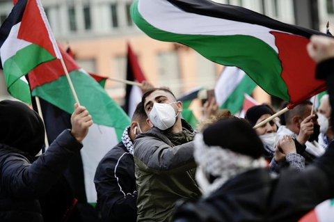 Eine propalästinensische Demonstration in Berlin.